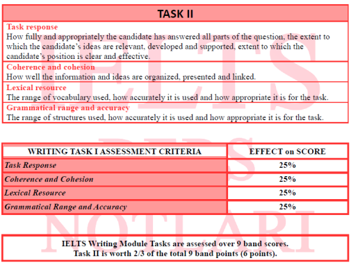 TASK II ASSESSMENT CRITERIA